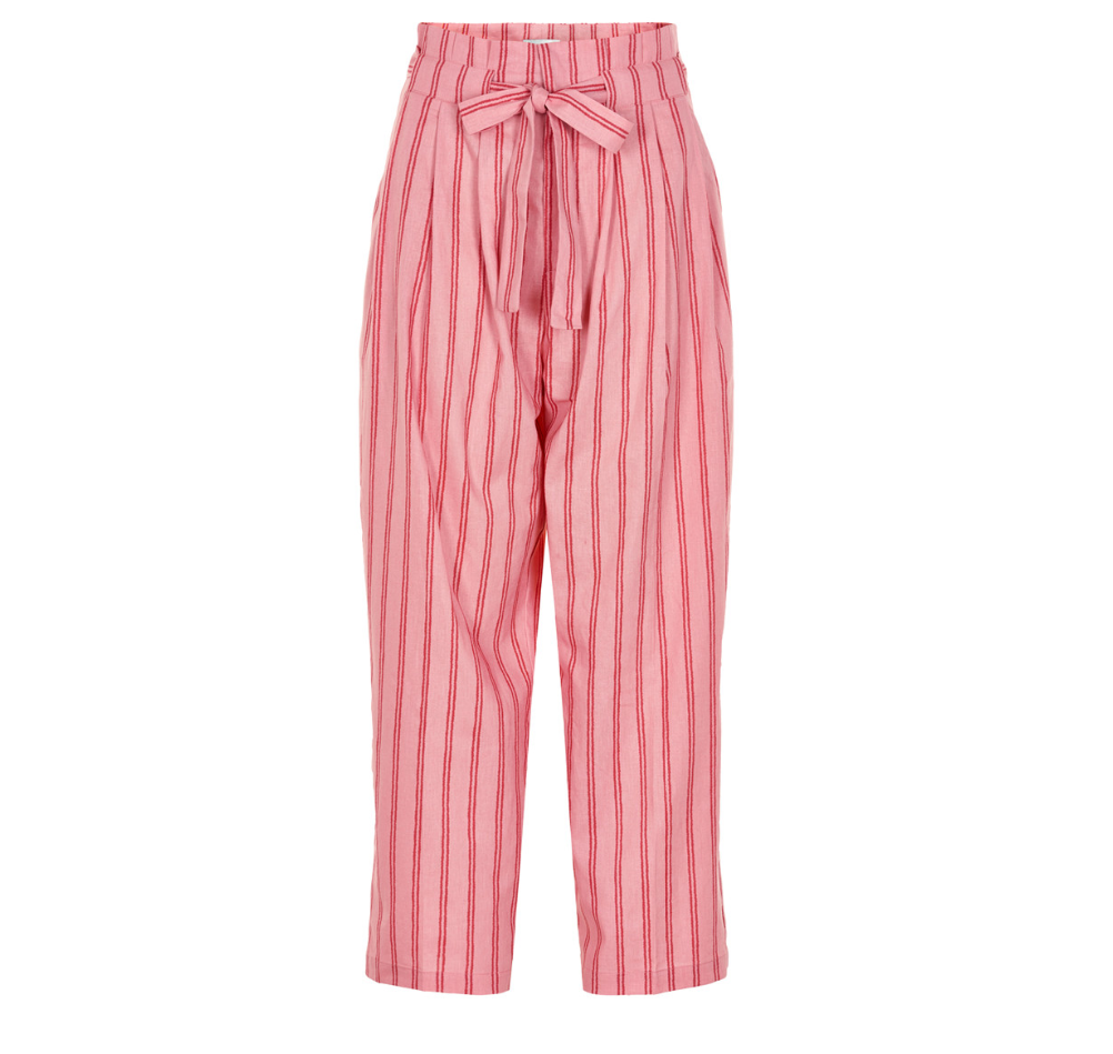 Ancho Mujer Nümph Pantalón Rosa Granate De Raya Y f6vYb7yg