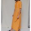 Vestido largo Designers Society mostaza